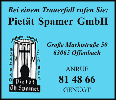 piet t theodor spamer gmbh in offenbach am main branche n bestattungsinstitute. Black Bedroom Furniture Sets. Home Design Ideas
