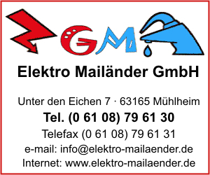 elektro mail nder gmbh in m hlheim am main branche n elektroinstallationen bei adressbuch. Black Bedroom Furniture Sets. Home Design Ideas