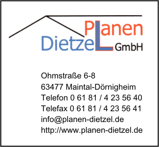 planen dietzel gmbh in offenbach am main branche n planen bei adressbuch der stadt offenbach. Black Bedroom Furniture Sets. Home Design Ideas